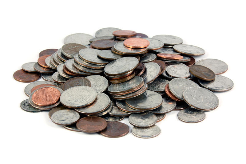 Download Pile of coins stock photo. Image of penny, nobody, coin - 20428380