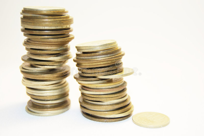 Pile of coins royalty free stock images