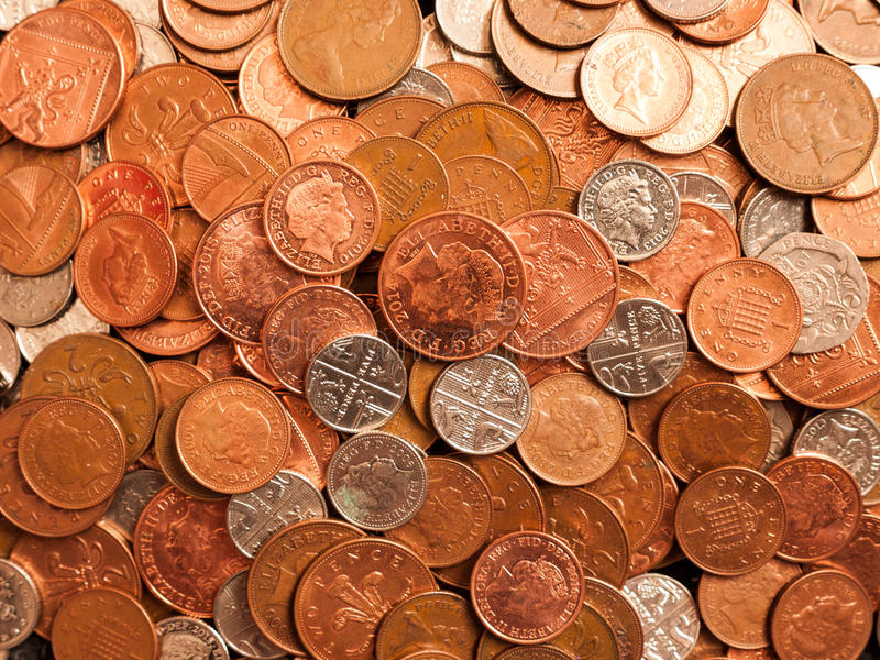 Pile of Coins stock photos