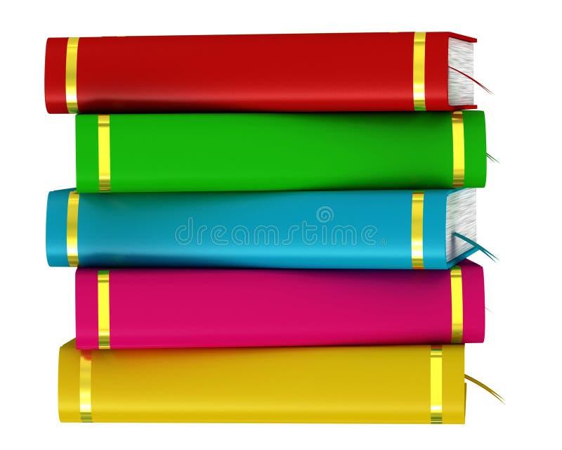 Pile colorée de livres illustration libre de droits