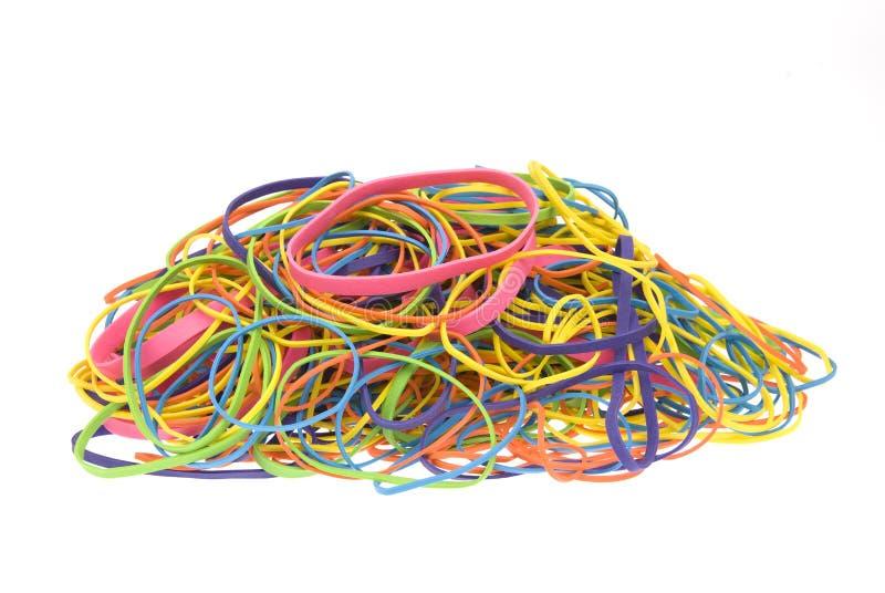 pile colorée par bandes en caoutchouc photo libre de droits