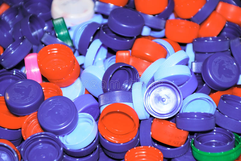 Pile Of Colored Plastic Corks Stock Images