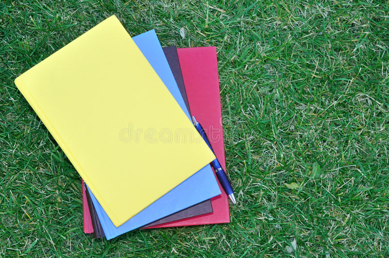 Download A pile of colorful books stock photo. Image of blue, textbook - 28325116