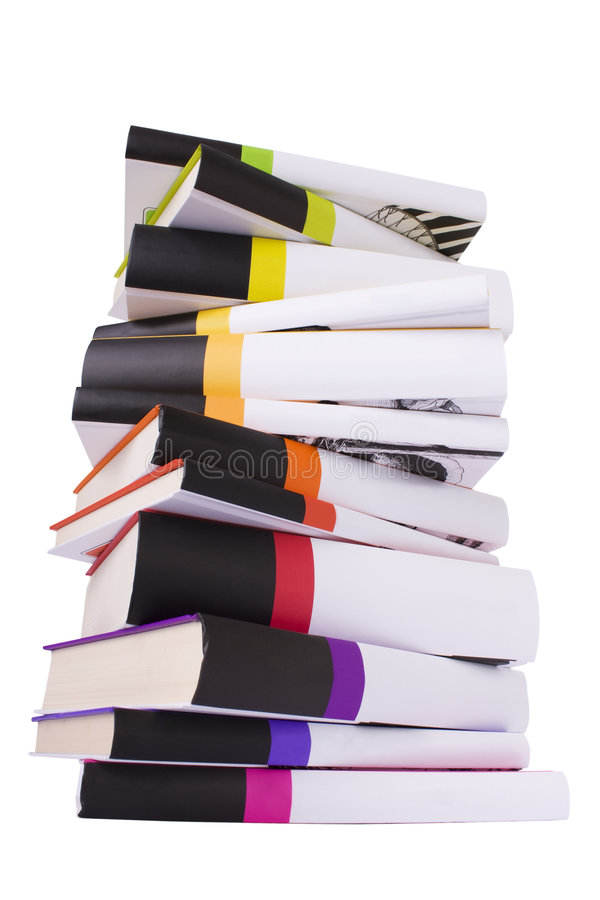 Download Pile of colorful books stock photo. Image of orange, archive - 6095256