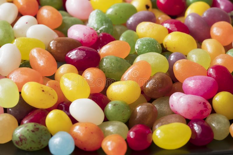Pile of colorful candy, jelly beans royalty free stock photo