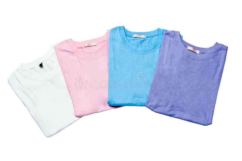 Download Pile Of Colorful T-shirts Freshly Royalty Free Stock Photography - Image: 20626617