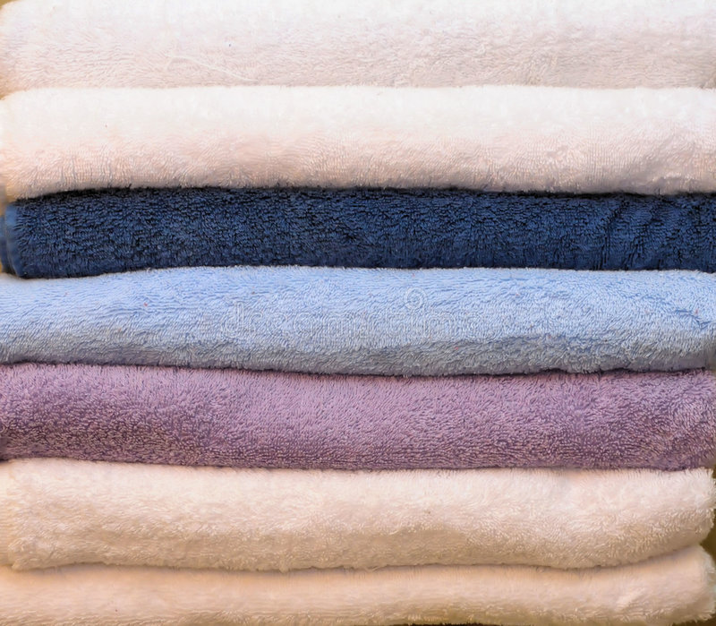 Download Pile of colorful towels stock photo. Image of neat, absorbent - 7268602