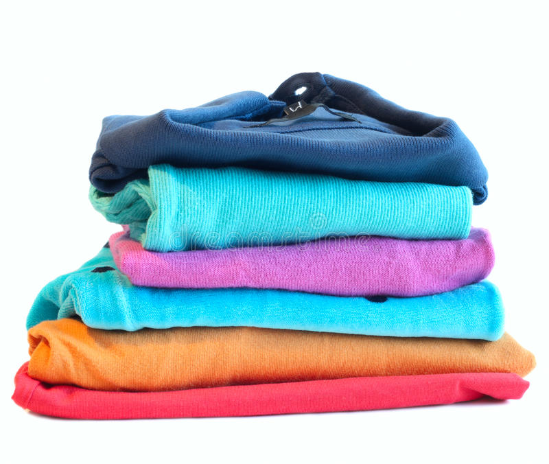 Pile Of Coloured Clothes From The Laundry Stock Image ...