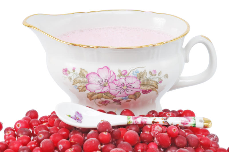 Pile cranberry royalty free stock photos