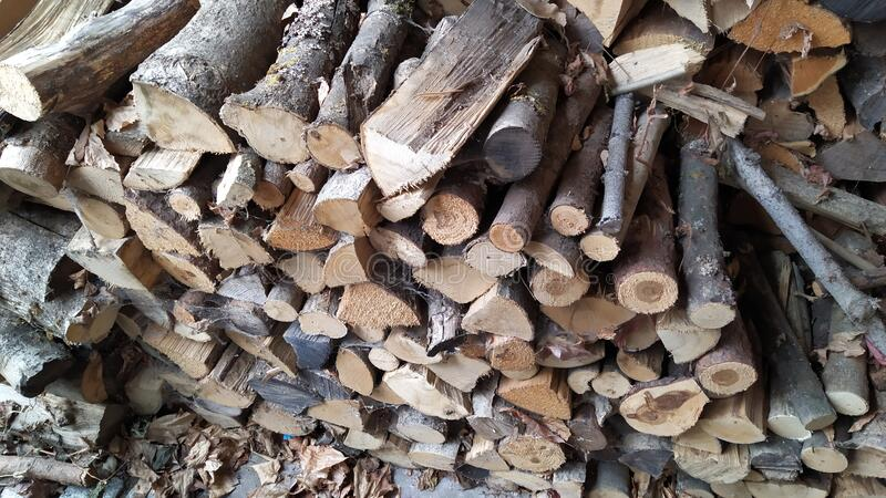 Lumber wood. Pile of cut lumber wood royalty free stock photography