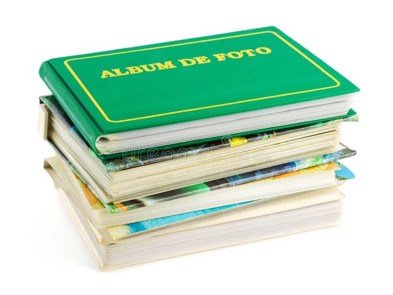 Pile d'albums photos images stock