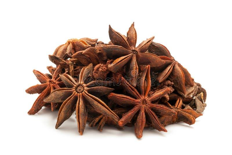 Pile d'anis d'étoile organique photo stock