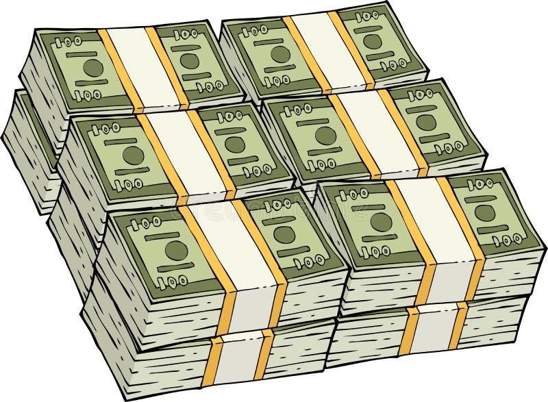 Pile d'argent comptant illustration stock