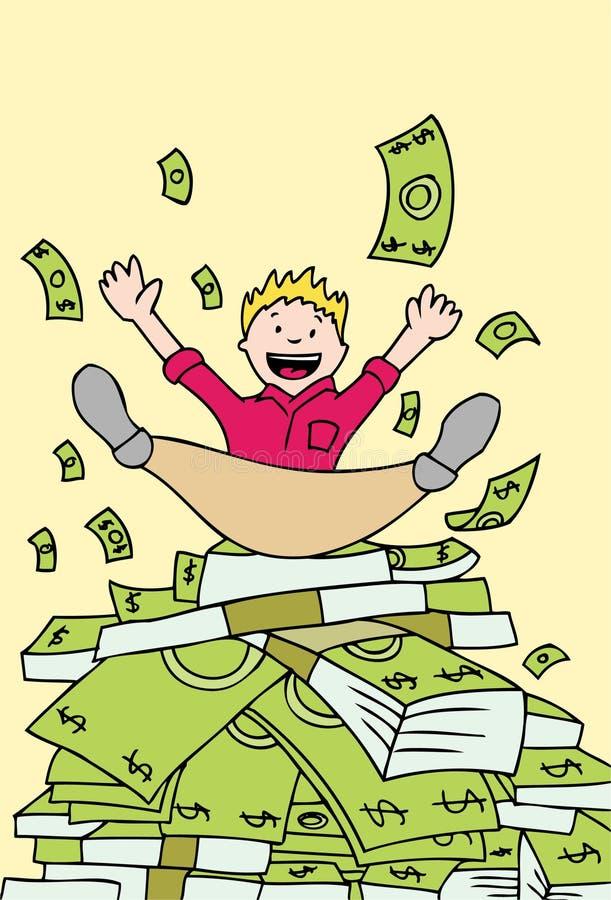 Pile d'argent comptant illustration de vecteur