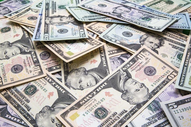 Pile d'argent liquide américain image stock