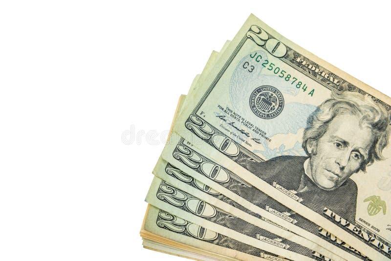 Pile d'argent liquide de dollars US image libre de droits
