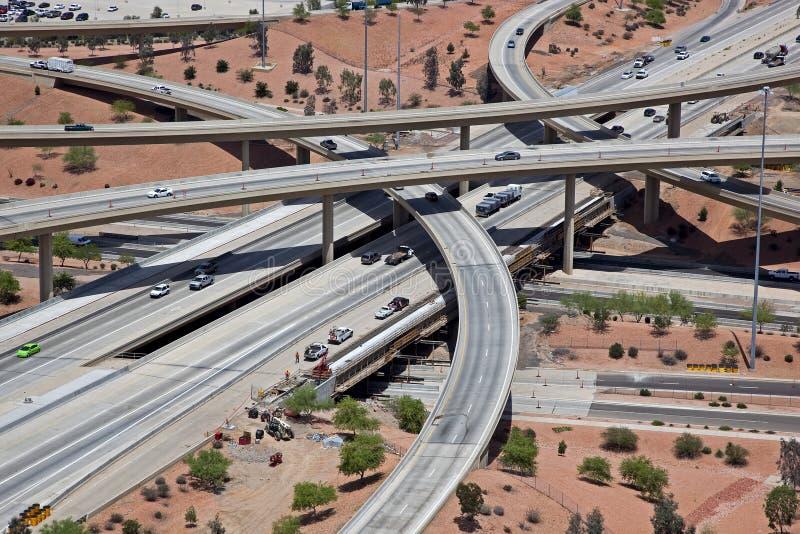 Pile d'autoroute images libres de droits
