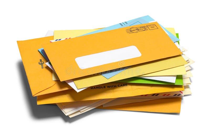 Pile d'enveloppe photos libres de droits