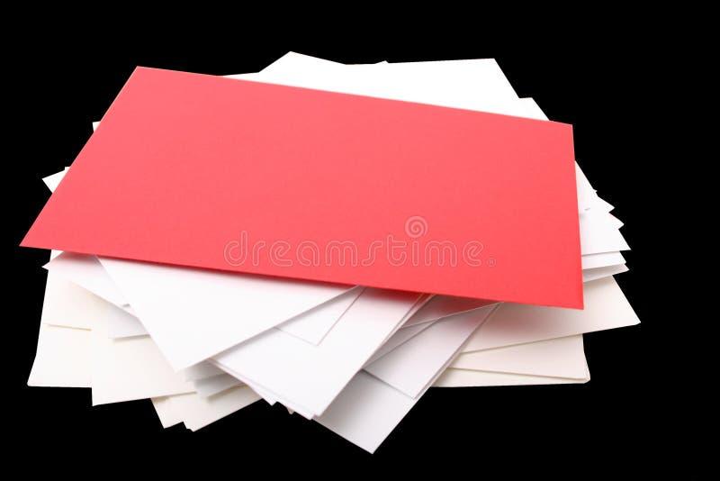 Pile d'enveloppes photos libres de droits
