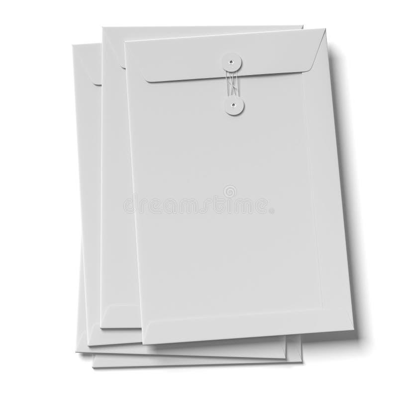 Pile d'enveloppes illustration libre de droits