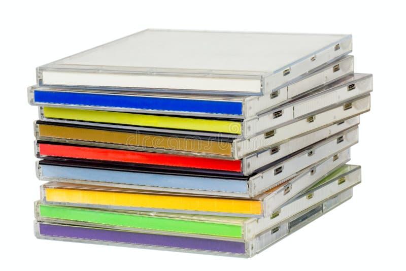 Pile d'enveloppes CD images libres de droits