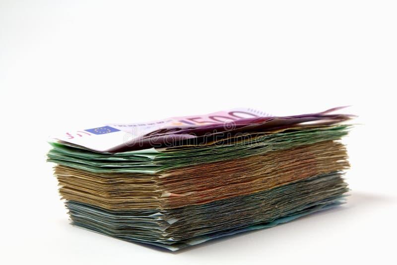 Pile d'euro billets de banque image stock