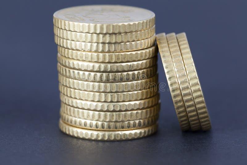 pile d'euro cents pour cinquante images stock