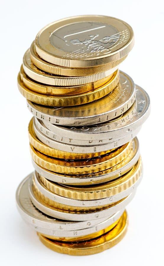 Pile D Euro Pièces De Monnaie Photographie stock