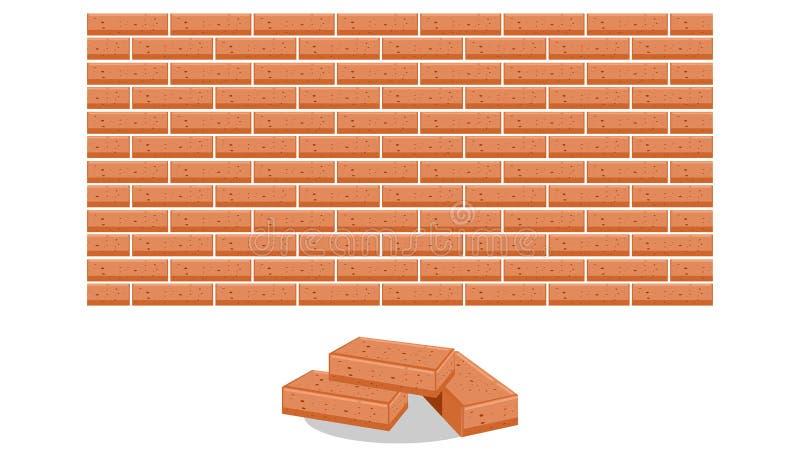 Pile d'illustration de vecteur de briques illustration stock