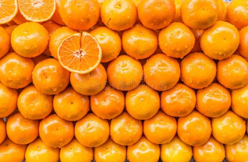 Pile d'oranges images stock