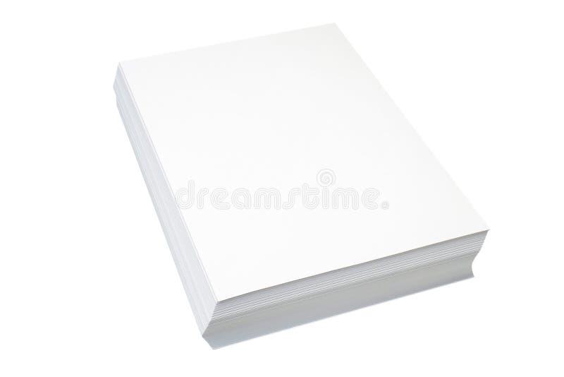 Pile d'un papier image stock