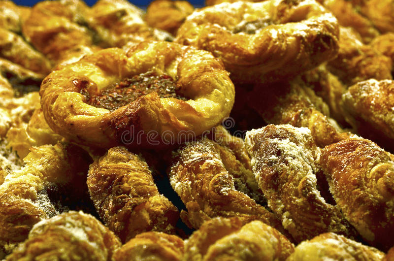 Pile of Danish Pastries. For breakfast stock photography