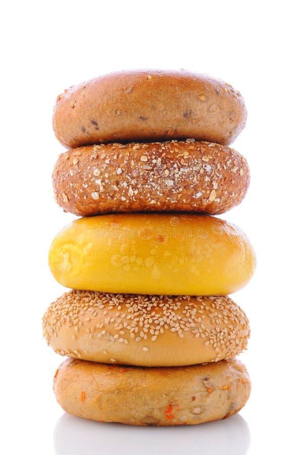 Pile de bagels photo stock
