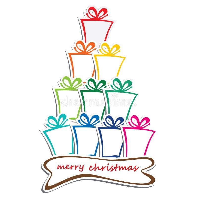 Pile de barre colorée de fond de cadeau   illustration stock