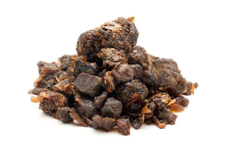 Pile de bdellium indien organique images stock