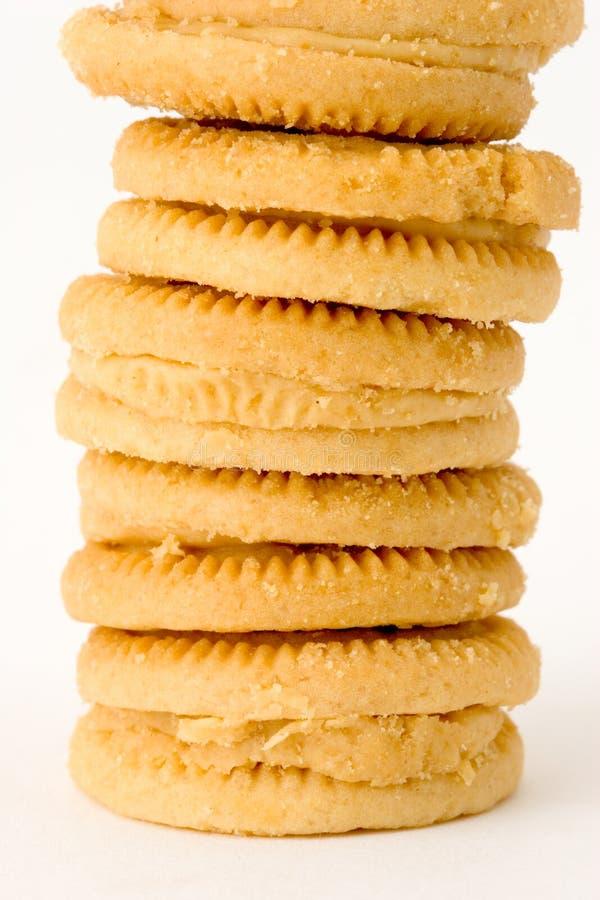 Download Pile de biscuits photo stock. Image du ligne, mangez, camelote - 2125690
