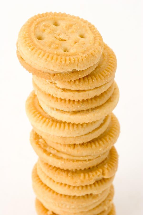 Download Pile de biscuits image stock. Image du ligne, biscuits - 2125727