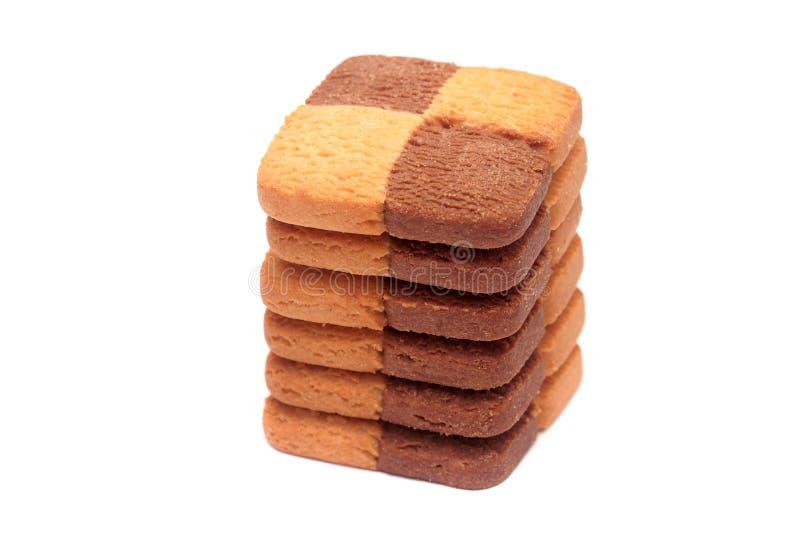Pile de biscuits. image stock