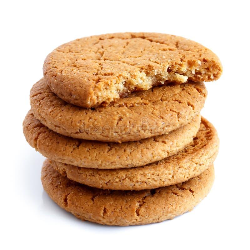 Pile de biscuits de gingembre images stock