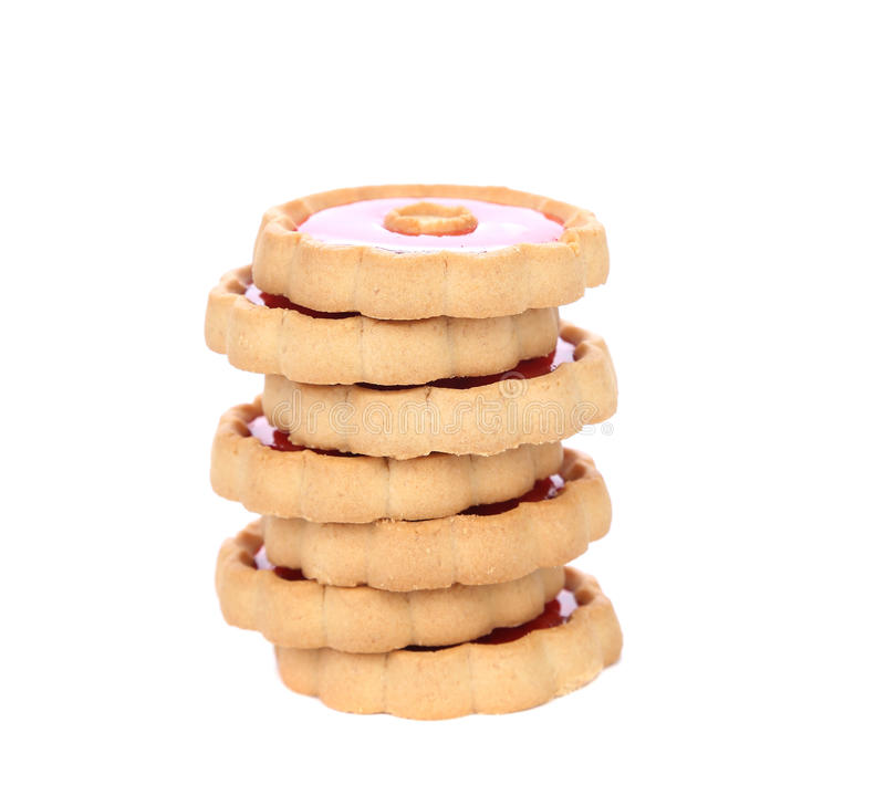 Pile de biscuits. Fin. photographie stock