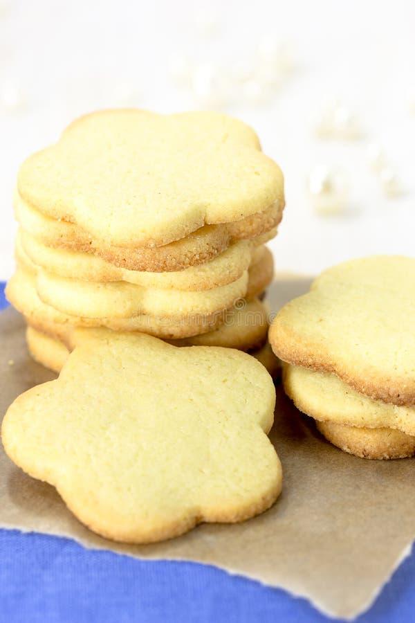 Pile de biscuits sablés image libre de droits