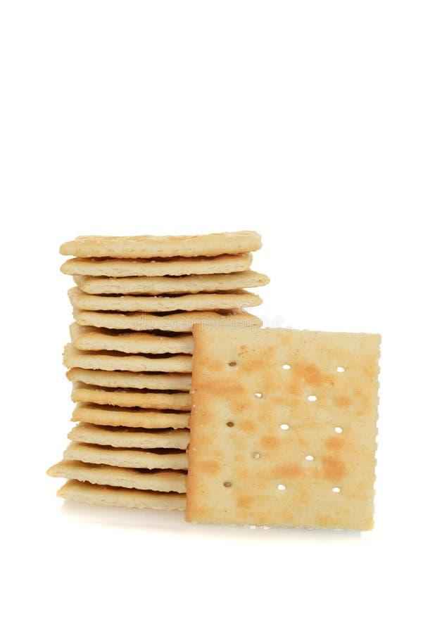 Pile de biscuits salés images libres de droits