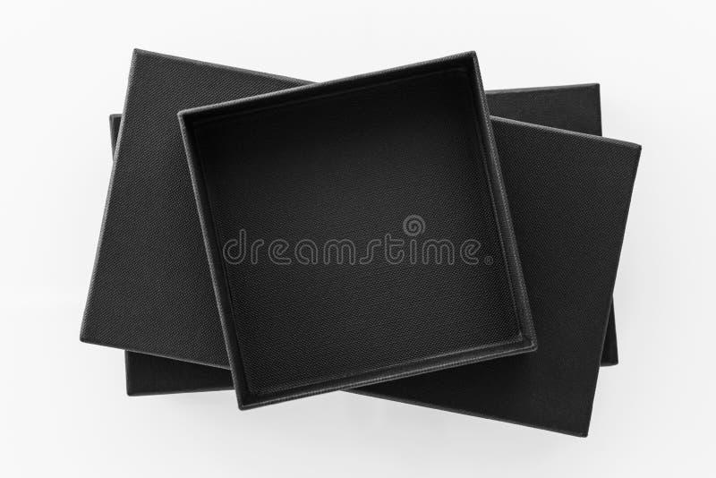 Pile de boîte noire  photographie stock libre de droits