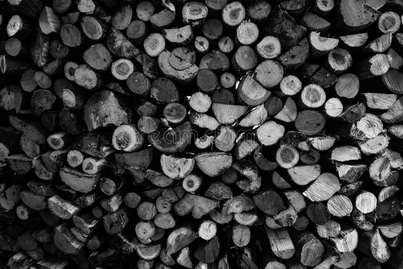 Pile de bois photographie stock libre de droits