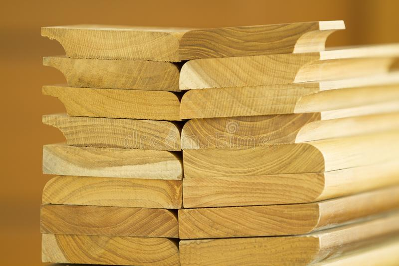 Pile de bois cutted photo stock