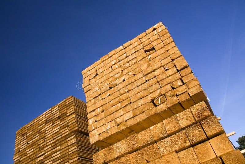 Pile de bois de construction photo stock