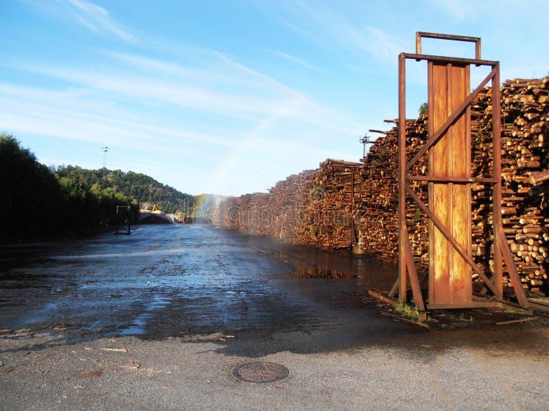 Pile de bois de construction image libre de droits