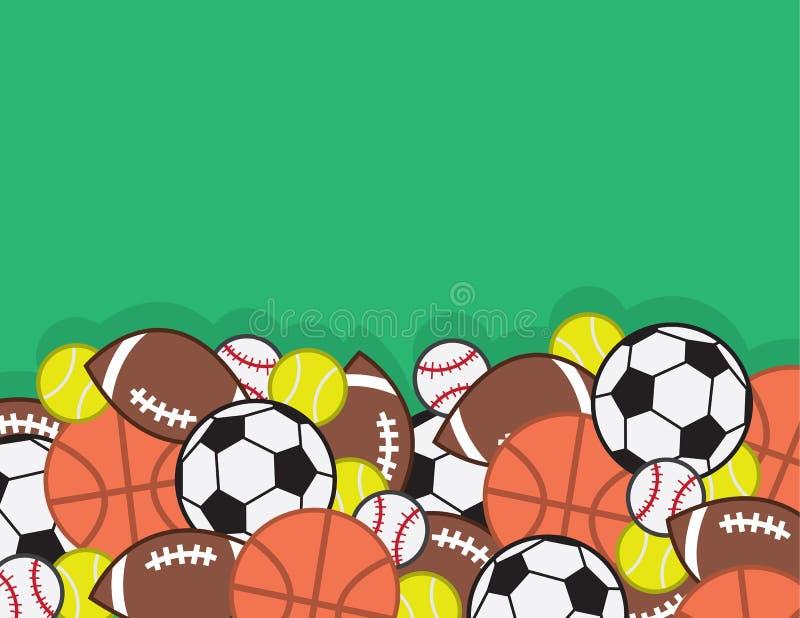 Pile de boules de sports illustration stock