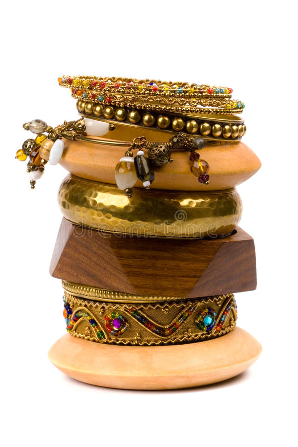 Pile de bracelets photos libres de droits