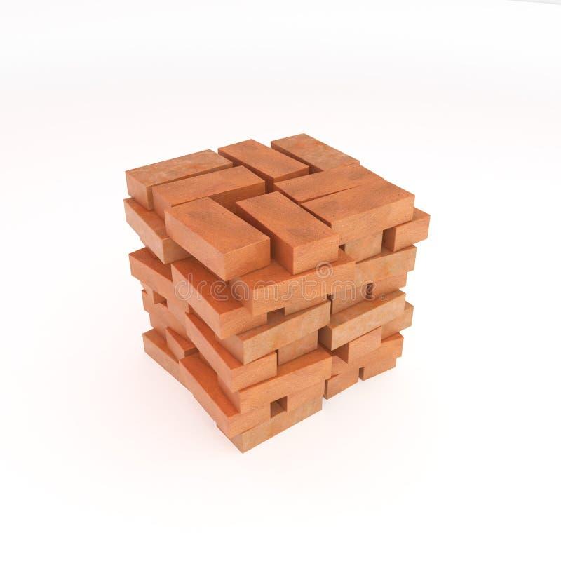 Pile de brique illustration libre de droits
